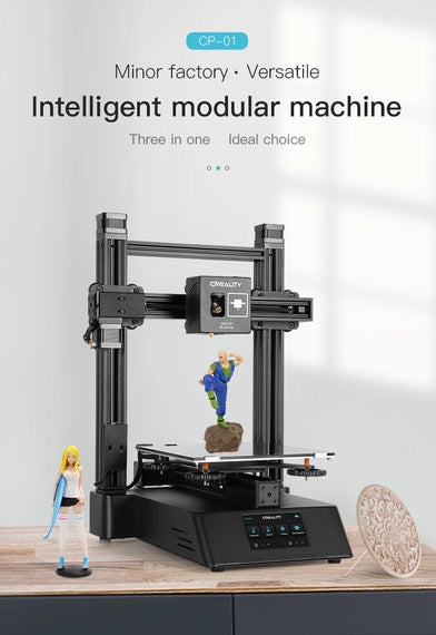 CREALITY 3D Printer New CP-01 - Three-in-one (3 in 1) Modular machine, 3D Printing, Laser Engraving and CNC Cutting Function