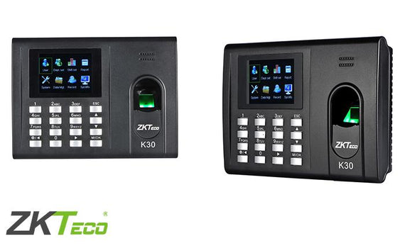 K30 - ZKTeco IP Based Fingerprint Time and Attendance Units - DIY-Geek