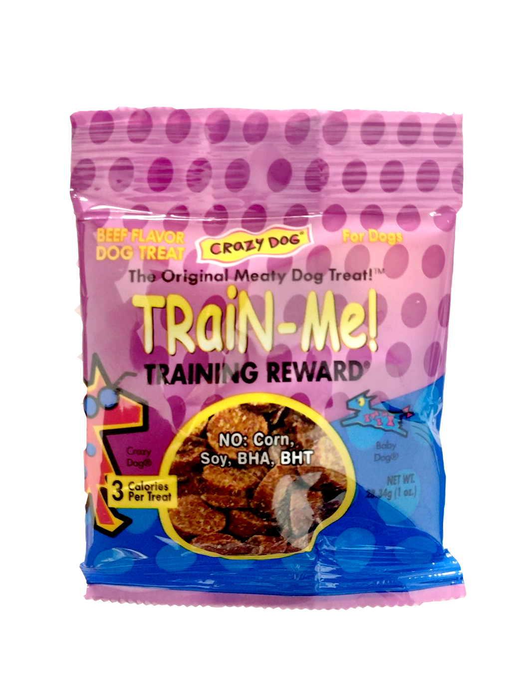 Crazy Dog Train-Me Training Rewards For Dogs, Beef, 1 OZ., Beef Flavor