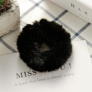 Faux Fur Fluffy Scrunchies