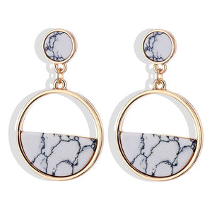 Eclipse Marble Earrings