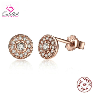 Rose Gold Vintage Sterling Silver Studs