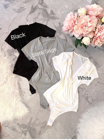 Pearl Satin Bodysuits (3 Colors Available)