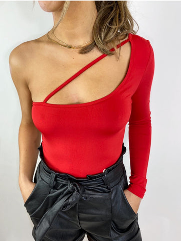 One Way Bodysuit (red)