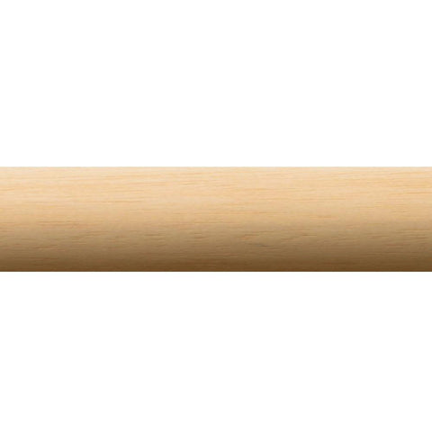 "1-3/8"" Smooth Wood Pole 4'"