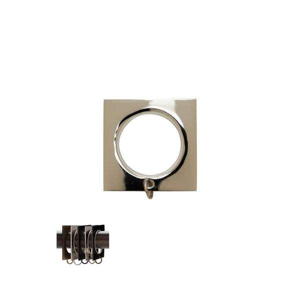 "Square Ring with Liner for 3/4"" Metal Pole"