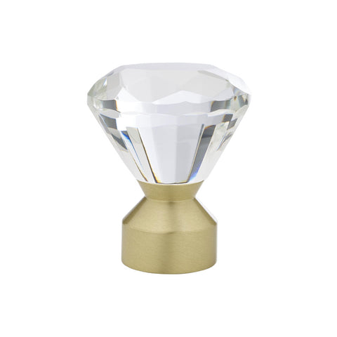 "Solitaire Crystal finial for 1-3/16"" pole, each."