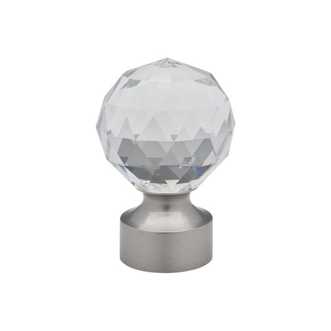 "Stella Crystal finial for 1-3/16"" pole, each."