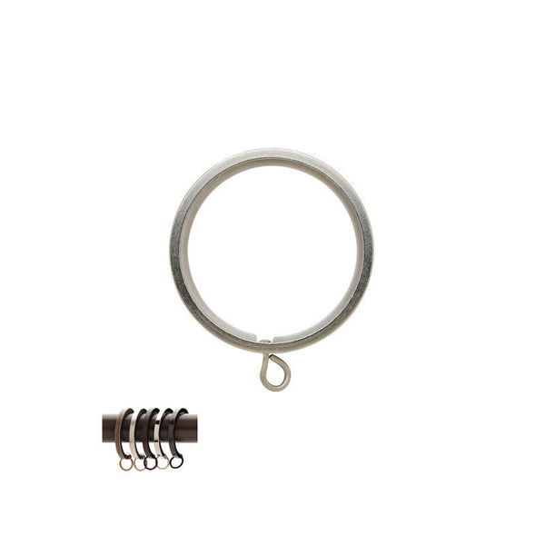 "Flat Metal Ring with Liner for 1-3/16"" Round Acrylic and Metal Pole, each."