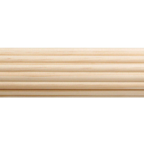 "1-3/8"" Reeded Wood Pole 6'"