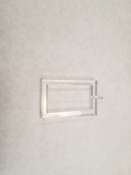 Acrylic/Metal Ring for Rectangular Rod, Box of 50