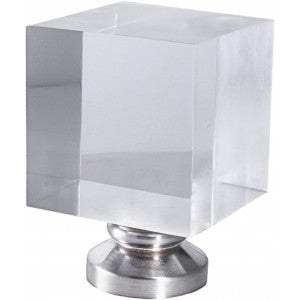 "Block Finial for 1-1/8"" Metal or Acrylic Pole, each."