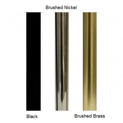 "Traverse Bracket for 1-1/8"" Round Acrylic and Metal Poles, each."