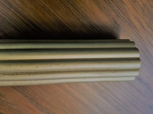 "2-1/4"" Reeded wood pole, 8' length, each."