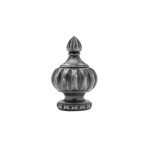 "Crown finial pair for 1-3/8"" rods."