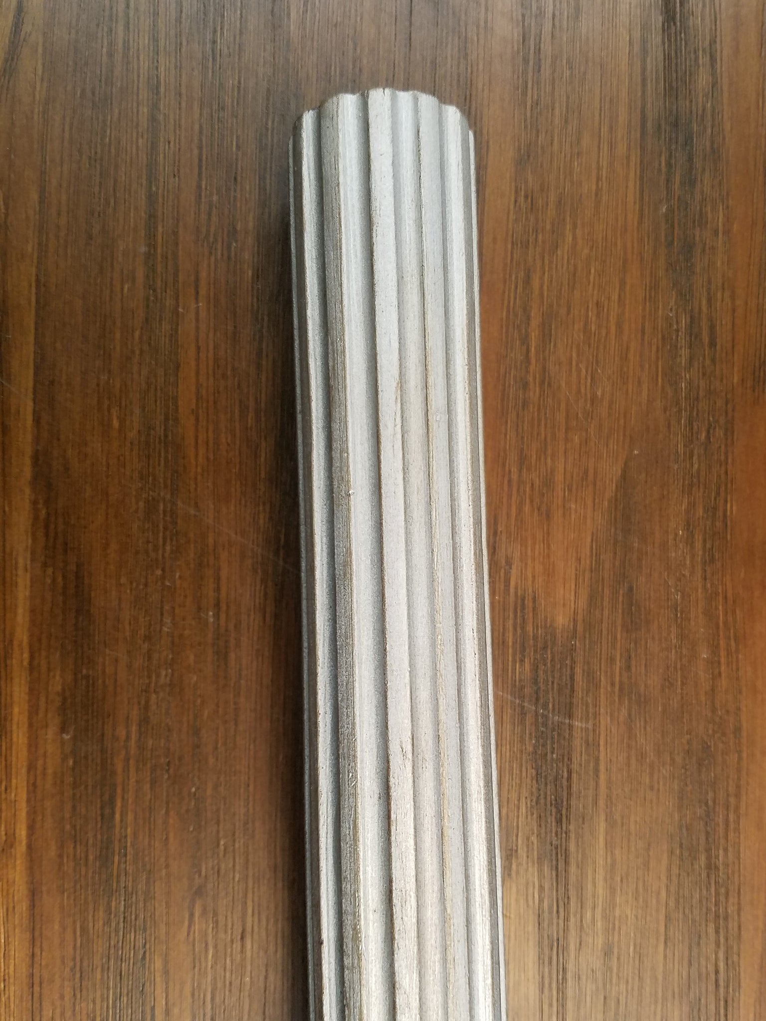 "1-3/4"" Fluted Wood Pole, 6' long."