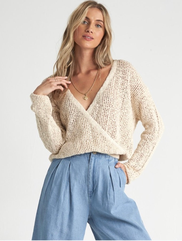 Billabong Sweet Bliss Sweater in White Cap