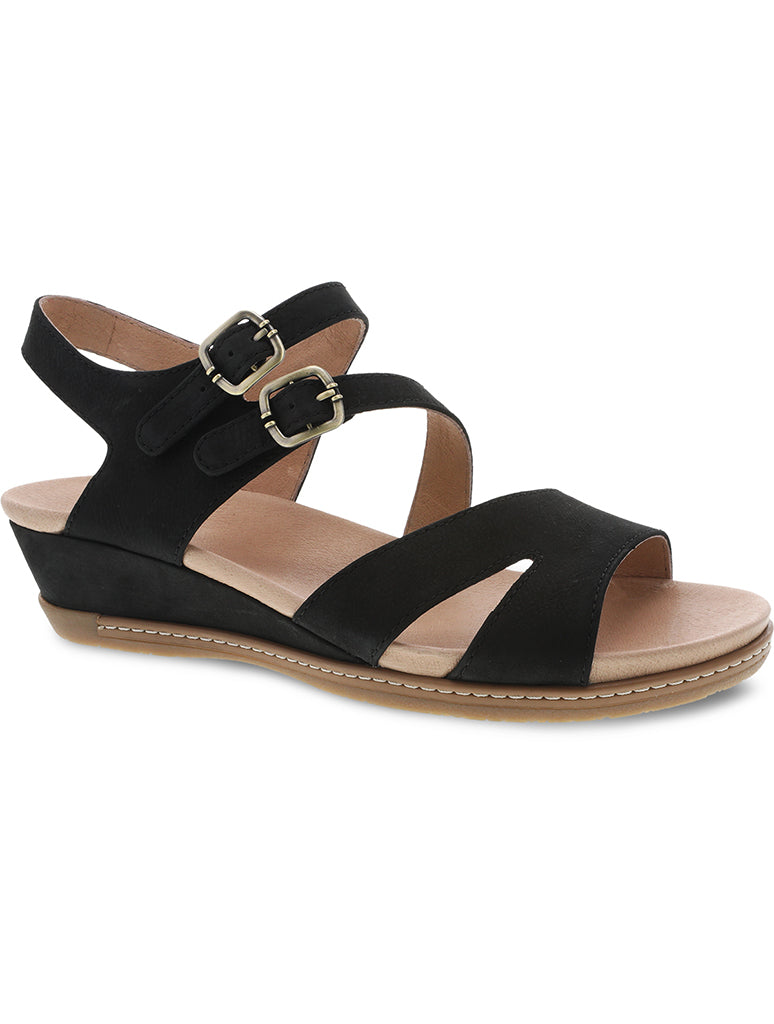 Dansko Angela Lo Velcro Wedge in Black