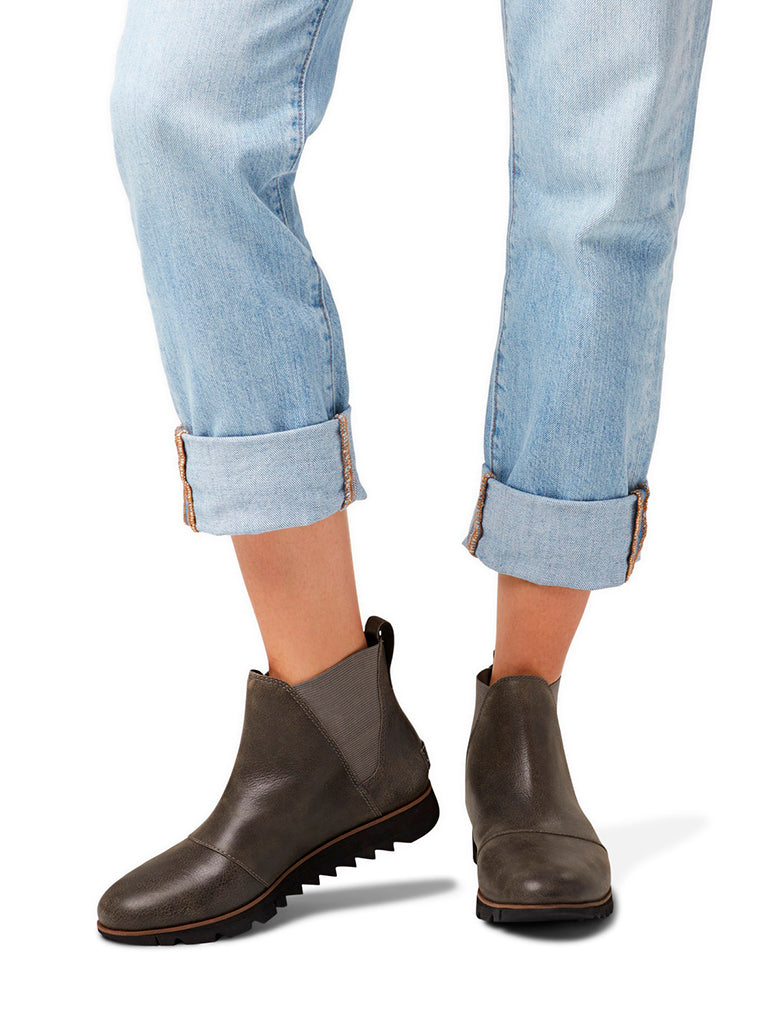Sorel Harlow Chelsea Boot in QUARRY