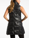 Anorak Nylon Down Puff Jacket Vest in Black