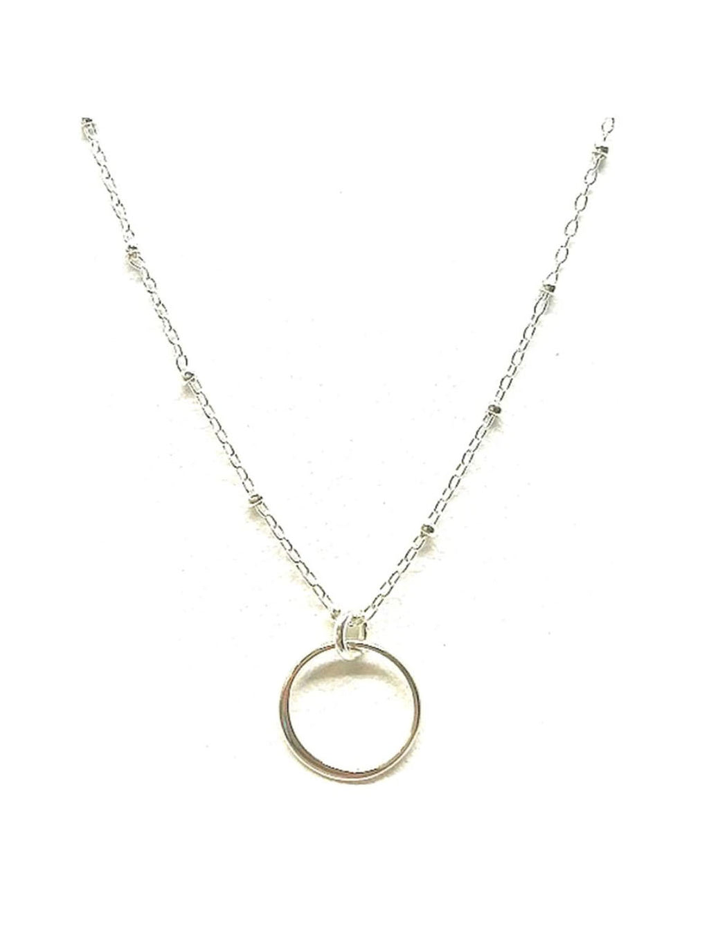 Athena Designs Circle Necklace in Silver
