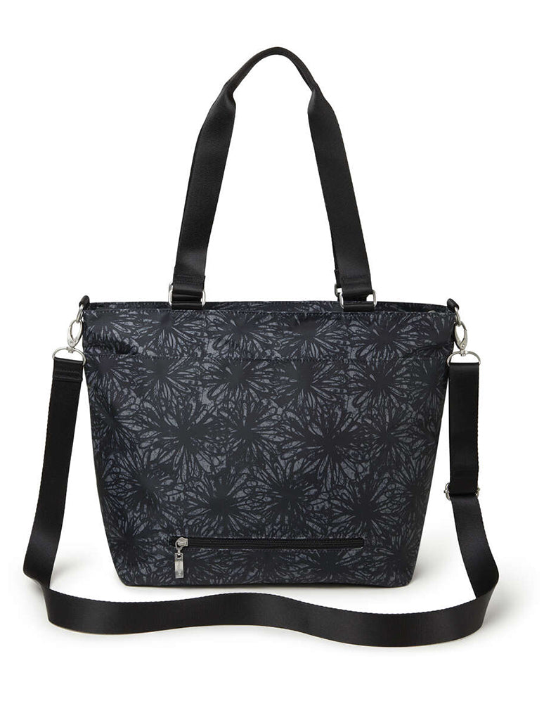 Baggallini Any Day Tote in Onyx Floral