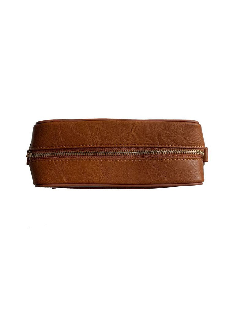 Ahdorned Vegan Camera Bag in Camel