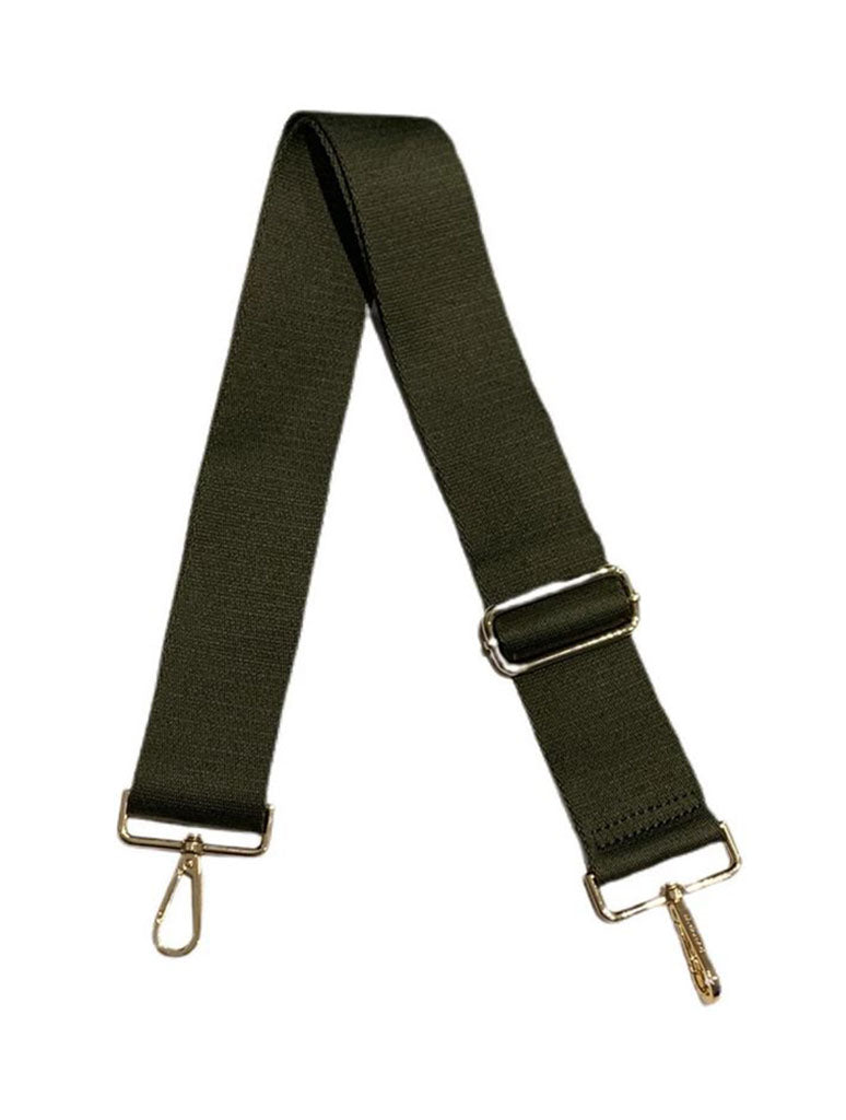 "Ahdorned 2"" Adjustable Bag Strap in Solid Army"
