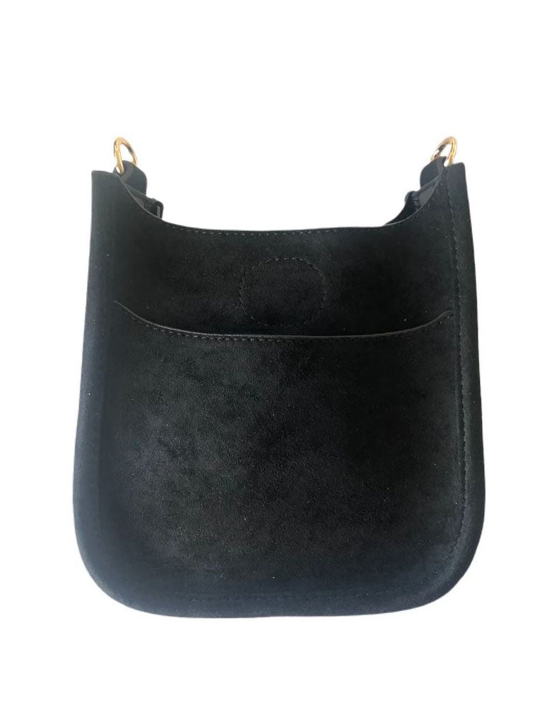 Ahdorned Petite Messenger Bag in Black