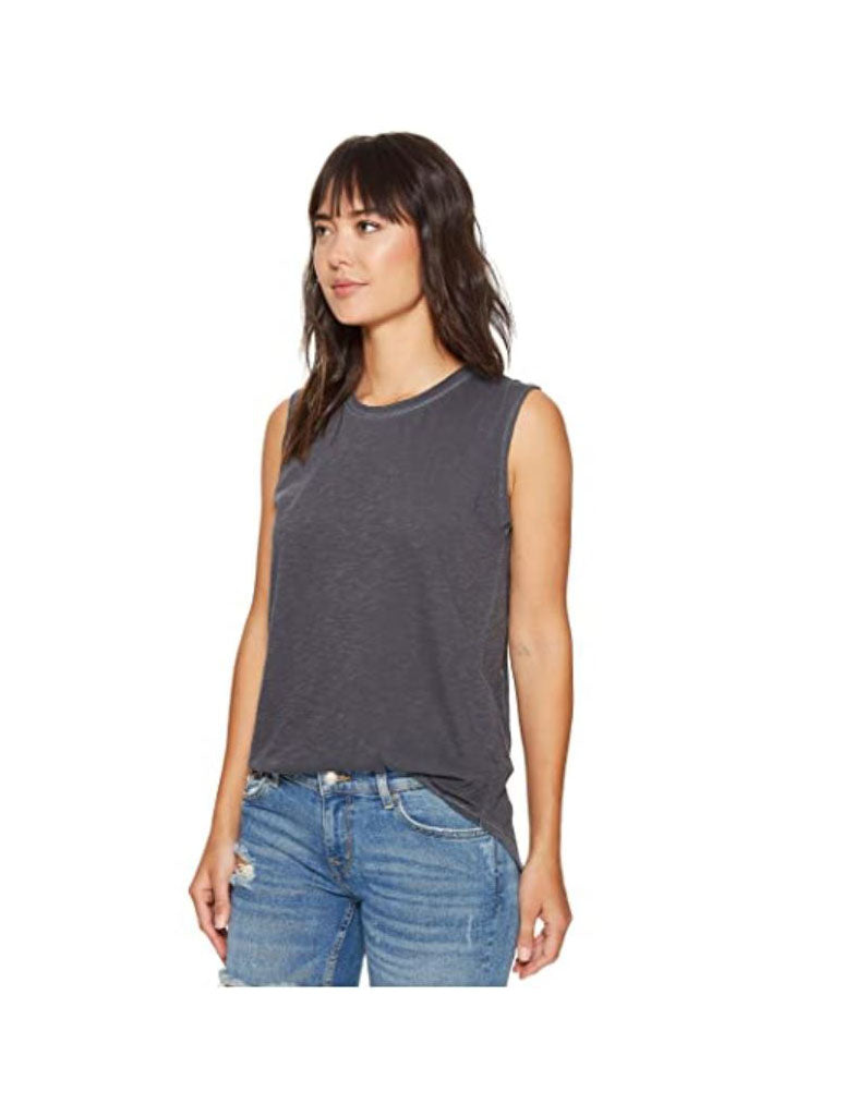 Alternative Apparel Inside Out Sleeveless Tee in Coal