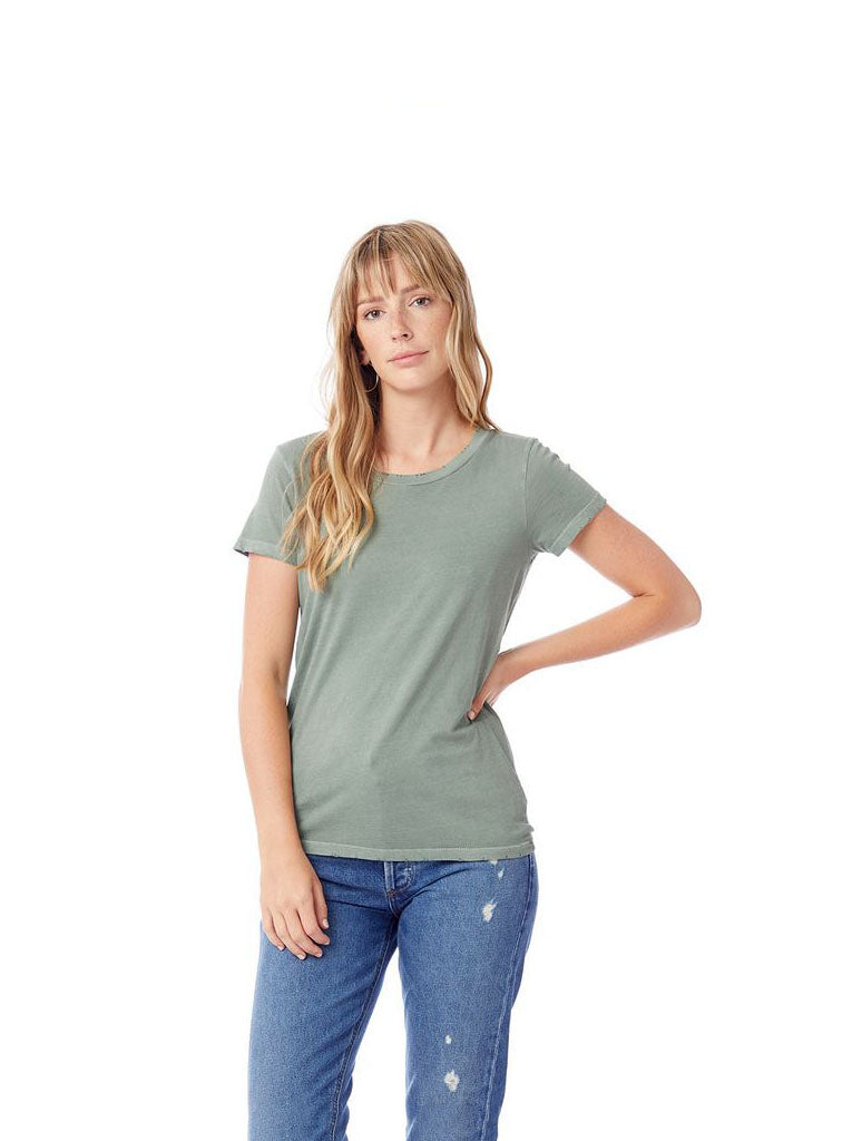 Alternative Apparel Distressed Tee in Green