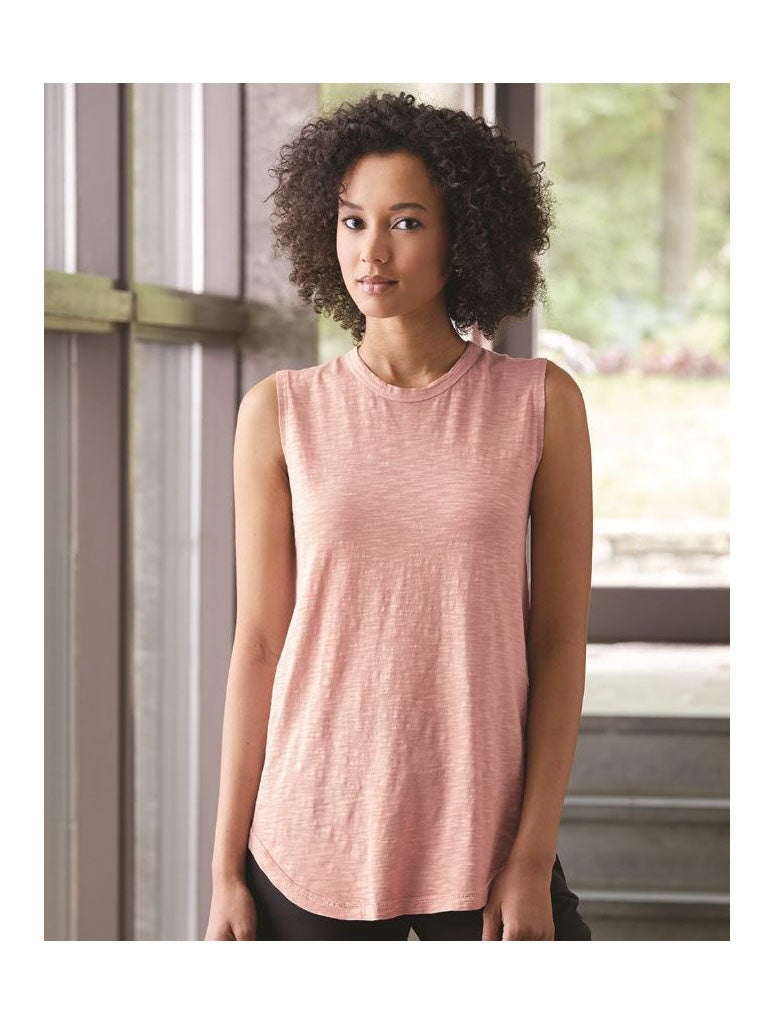 Alternative Apparel Sleeveless Tee in Rose Quartz