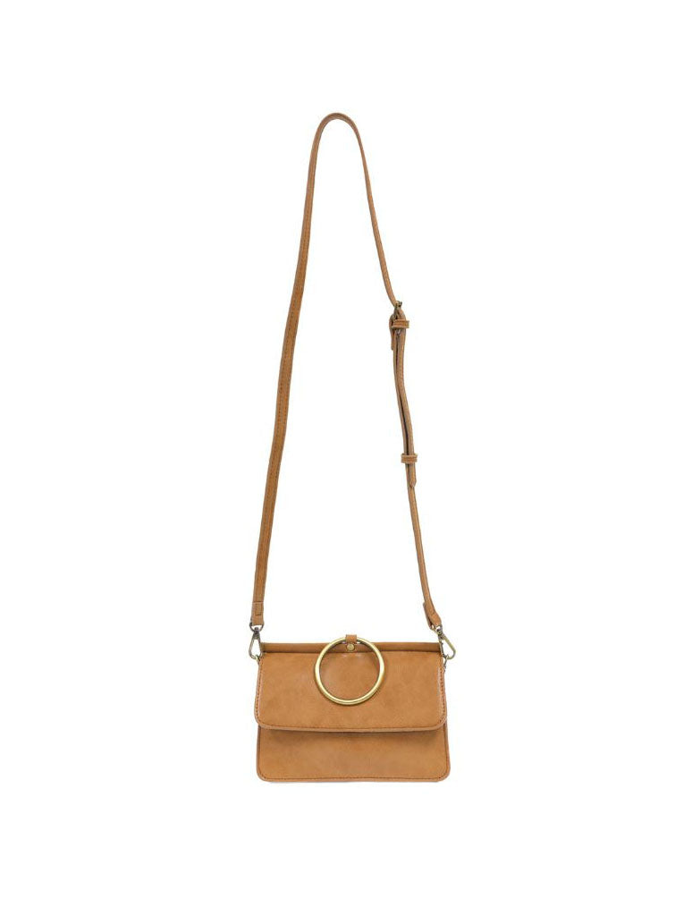 Joy Susan Aria Ring Crossbody Bag in Camel