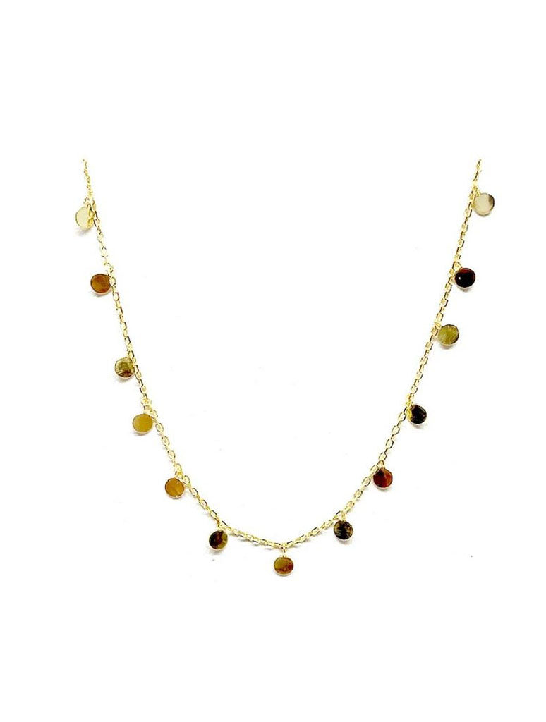 Athena Designs Dainty Disk Necklace in Gold