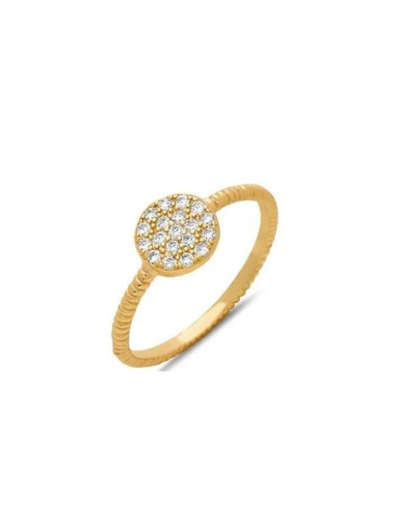 Athena Designs Gold Round Ring