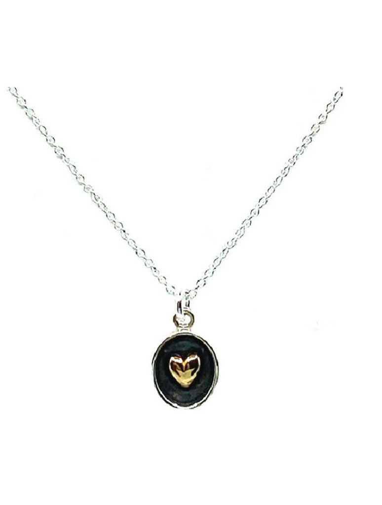 Athena Designs Heart Pendant Necklace in Silver