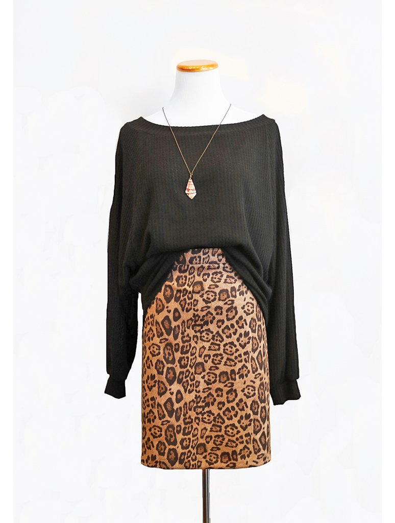 Adore Knee length Skirt in Leopard