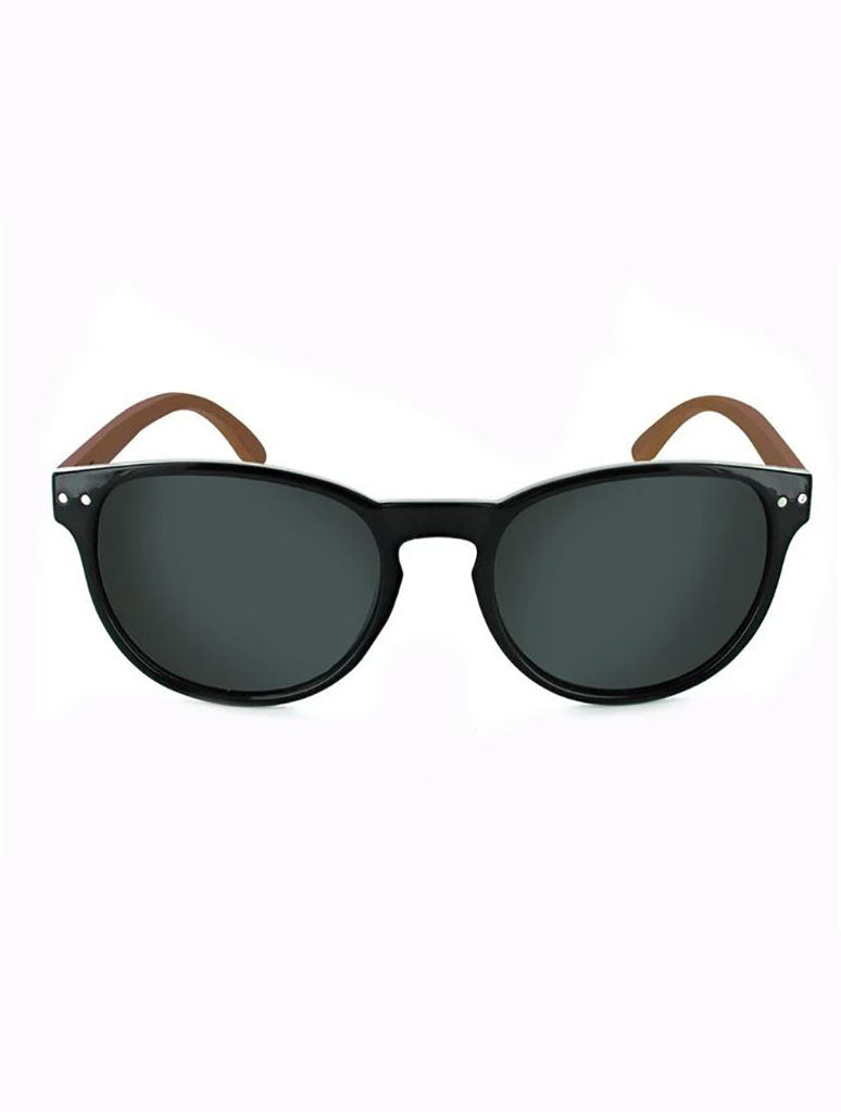 ONE by Optic Nerve Woodstock Bamboo Sunglasses in Bamboo/Black