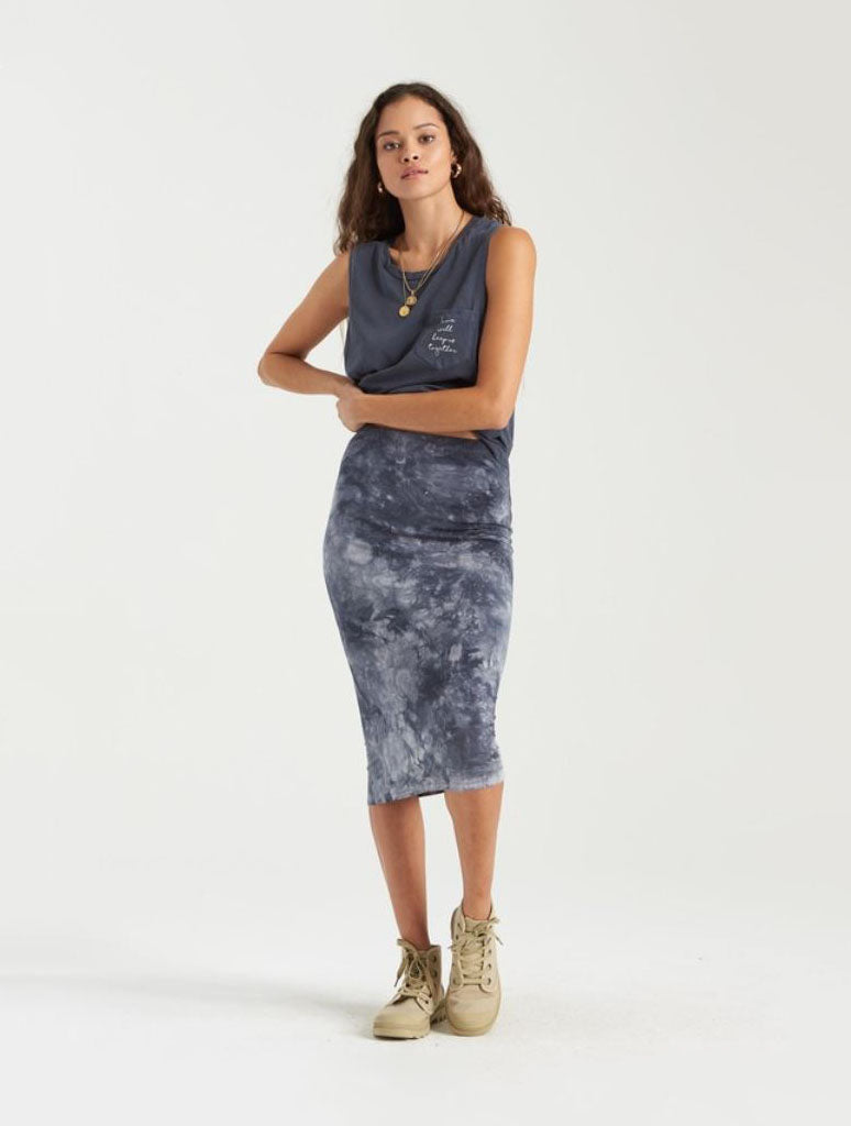 Billabong Go Along Midi Skirt in Ink