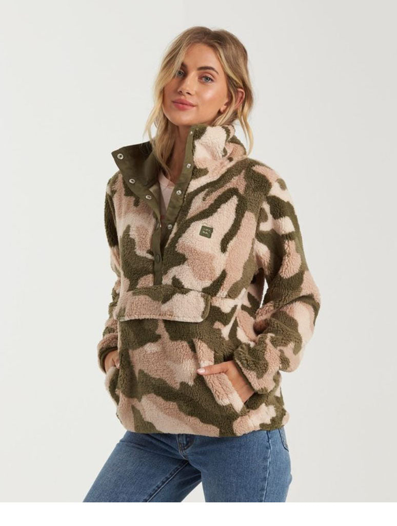 Billabong Switchback Pullover Sweater in Army Camo