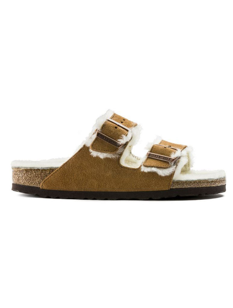 Birkenstock Arizona Shearling Sandal in Mink