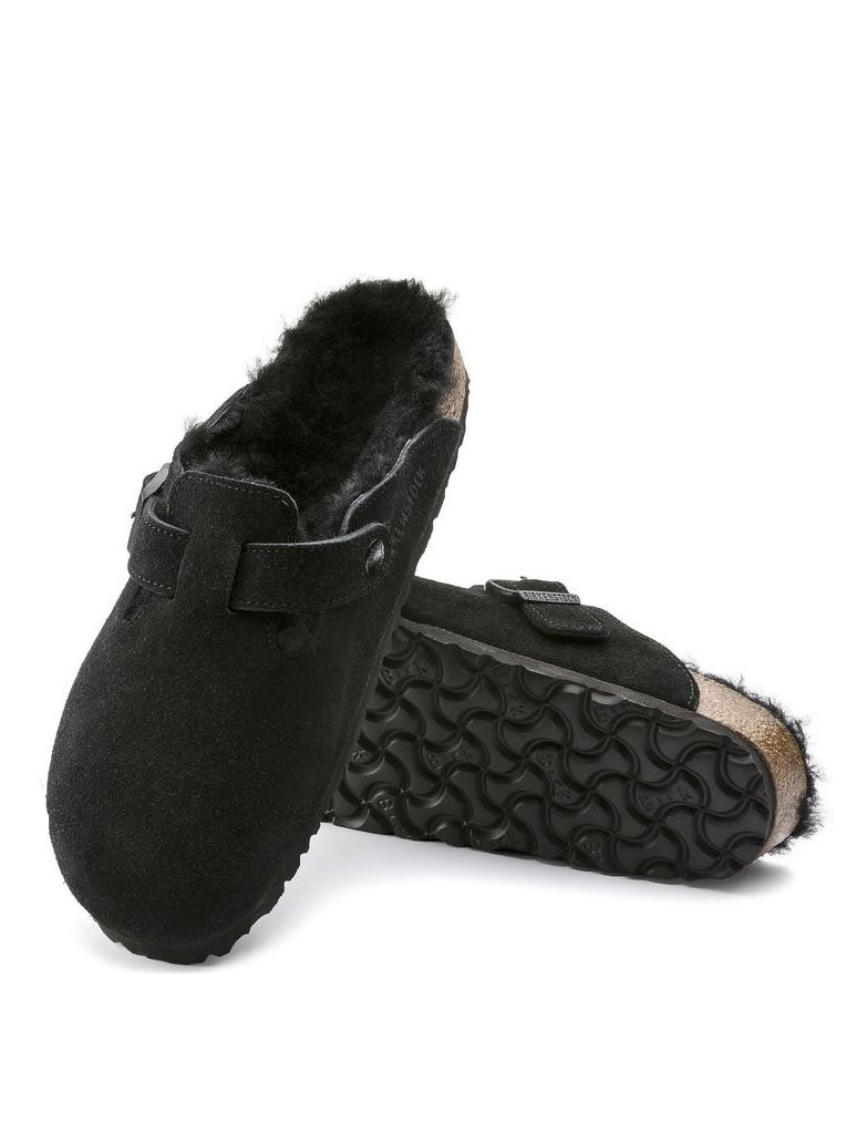 Birkenstock Boston Shearling in Black