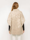 Mystree Turtle Neck Poncho in Taupe