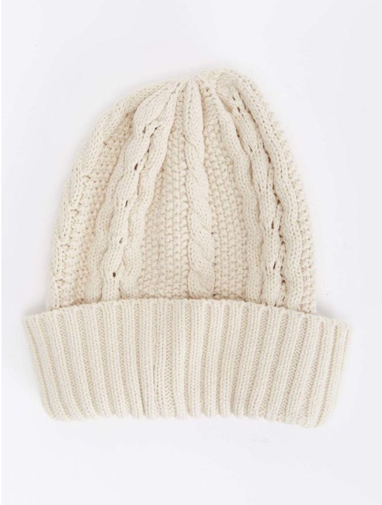 Billabong Brisk Nite Beanie in Antique White