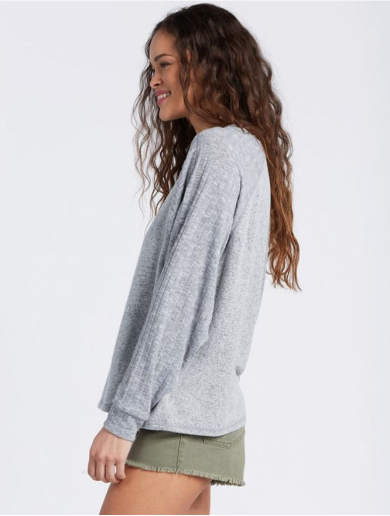 Billabong First Start Top in Athletic Grey