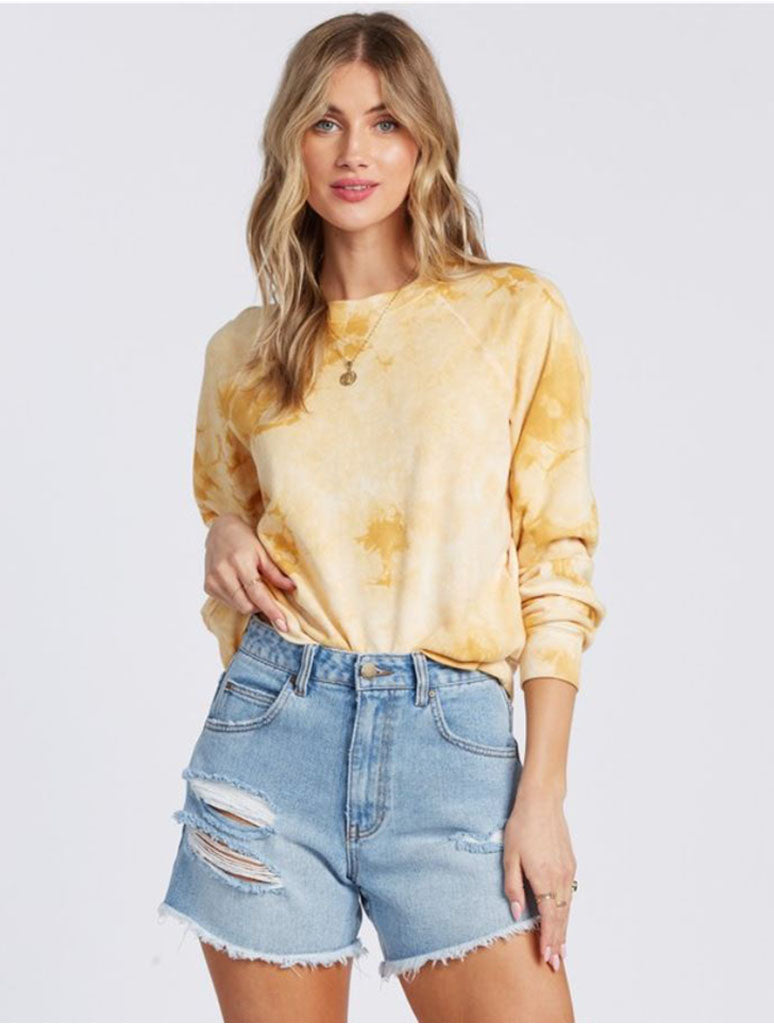 Billabong Sun Shrunk Sweatshirt in Gold Dust