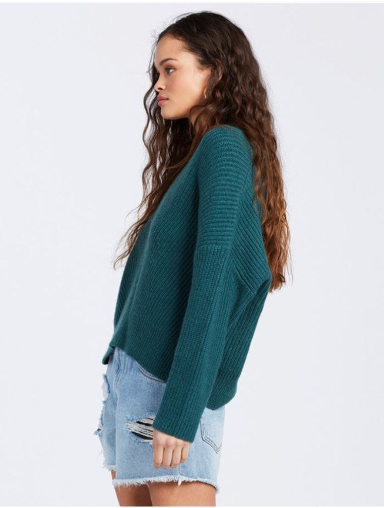 Billabong Its Me Sweater in Evergreen
