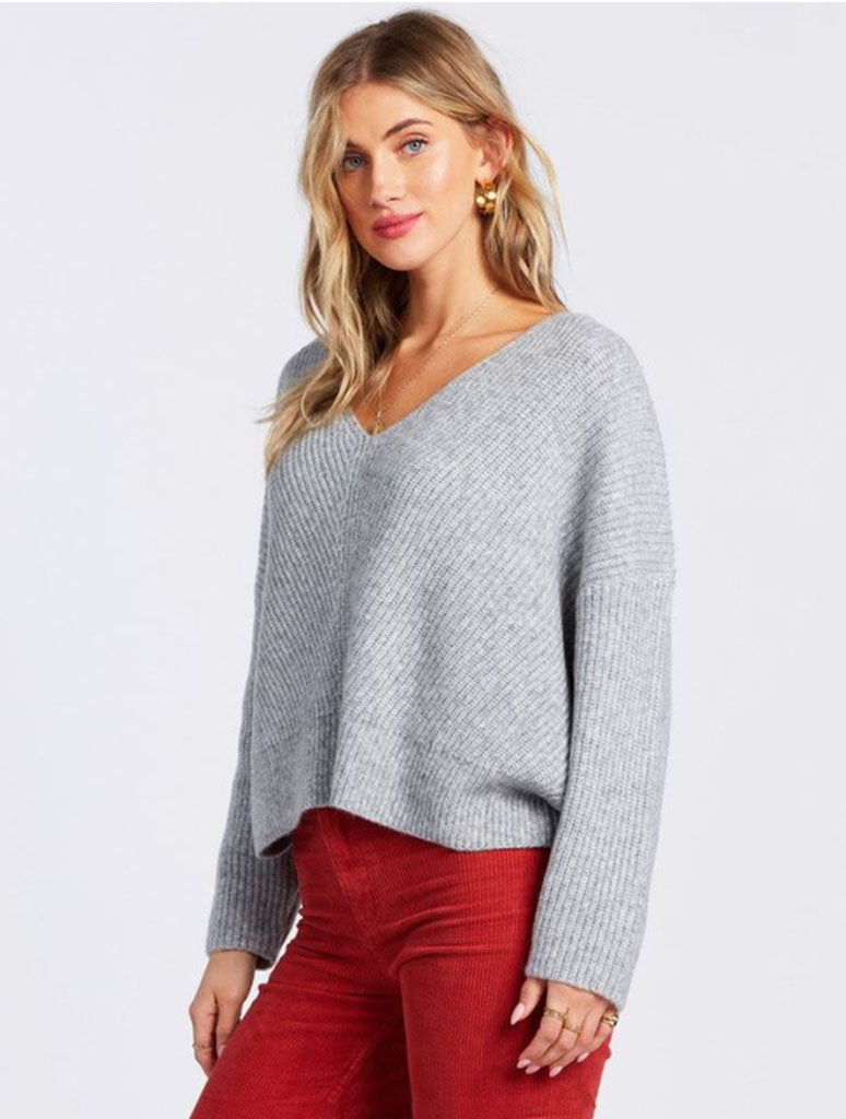 Billabong Its Me Sweater in Athletic Grey