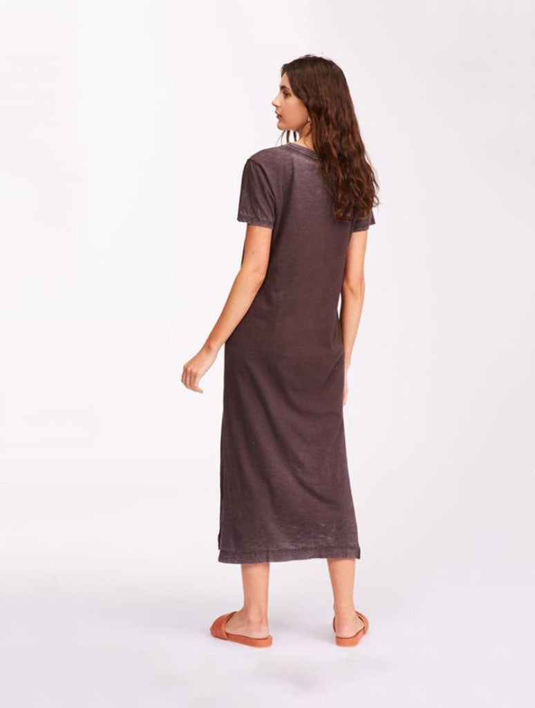 Billabong Summer Longline Knit Dress in Off Black