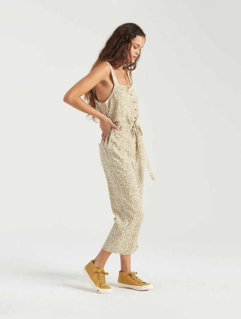 Billabong Sandy Shores Overalls in Bright Gold